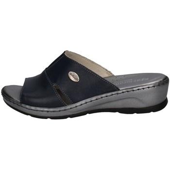 Schuhe Damen Pantoffel Florance 22505 BLAU
