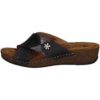 Schuhe Damen Pantoffel Florance 22132-1 SCHWARZ