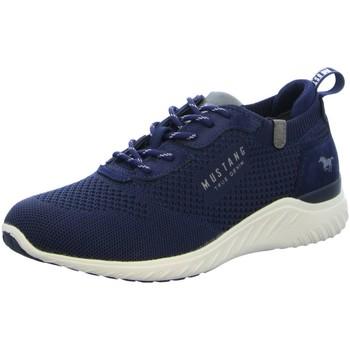 Schuhe Herren Sneaker Low Mustang 4132309-800 blau