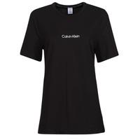Kleidung Damen T-Shirts Calvin Klein Jeans SS CREW NECK Schwarz