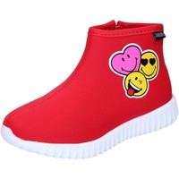 Schuhe Mädchen Low Boots Smiley BJ990 Rot