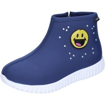 Schuhe Mädchen Low Boots Smiley BJ991 Blau