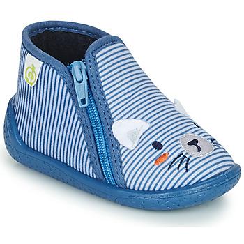 Schuhe Jungen Hausschuhe Citrouille et Compagnie PASTA Blau