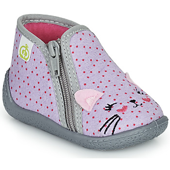 Schuhe Mädchen Hausschuhe Citrouille et Compagnie PASTA Grau