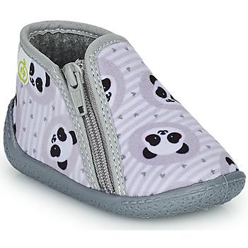 Schuhe Kinder Hausschuhe Citrouille et Compagnie PIFOU Grau