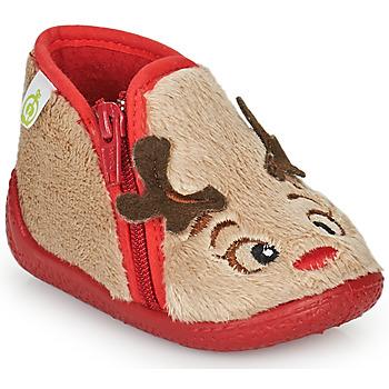 Schuhe Kinder Hausschuhe Citrouille et Compagnie PARFALLE Beige