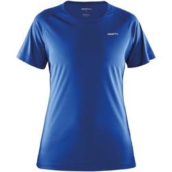 Kleidung Damen T-Shirts Craft CT86F Sweden Blau