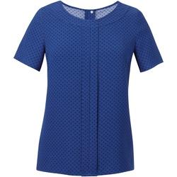 Kleidung Damen Tops / Blusen Brook Taverner Crepe De Chine Königsblau/Marineblau