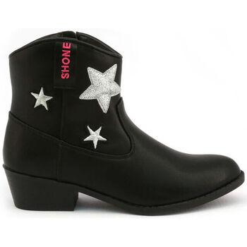 Schuhe Mädchen Low Boots Shone - 026801 Schwarz