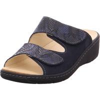 Schuhe Damen Pantoffel Belvida - 42-202 navy/marine pyhon