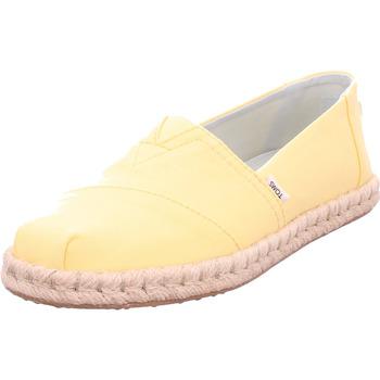 Schuhe Damen Leinen-Pantoletten mit gefloch Toms Classic Canvas/rope plant dyed yellow