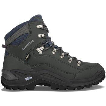 Schuhe Herren Wanderschuhe Lowa Sportschuhe Renegade GTX MID 310945-0954 grau