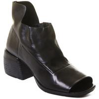 Schuhe Damen Low Boots Rebecca White T0402  Rebecca White  D??msk?? kotn??kov?? boty z ?ern?? telec?? k??e,