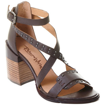 Schuhe Damen Pumps Rebecca White T0501  Rebecca White  D??msk?? sand??ly na vysok??m podpatku z telec??