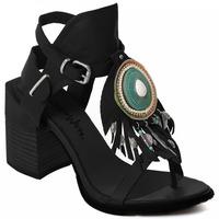 Schuhe Damen Pumps Rebecca White T0509  Rebecca White  D??msk?? sand??ly na vysok??m podpatku z ?ern??