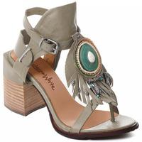 Schuhe Damen Pumps Rebecca White T0509  Rebecca White  D??msk?? sand??ly na vysok??m podpatku z hov??z?