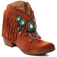 Schuhe Damen Low Boots Rebecca White T0601B  Rebecca White  D??msk?? ko?en?? kotn??kov?? boty s kor??lovou k