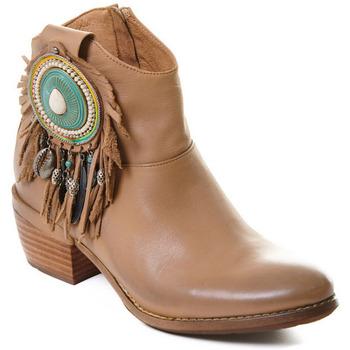 Schuhe Damen Low Boots Rebecca White T0605  Rebecca White  D??msk?? ko?en?? kotn??kov?? boty s blokov?m pod
