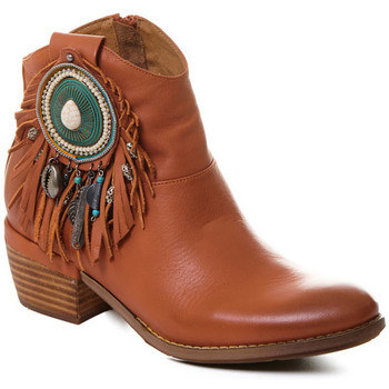 Schuhe Damen Low Boots Rebecca White T0605  Rebecca White  D??msk?? ko?en?? kotn??kov?? boty s podpatkem v