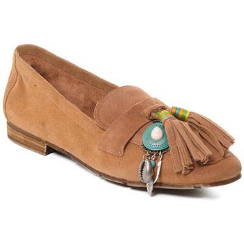 Schuhe Damen Slipper Rebecca White T3506 Beige