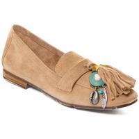 Schuhe Damen Slipper Rebecca White T3506 Braun