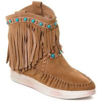 Schuhe Damen Low Boots Rebecca White T6016 Braun