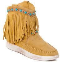 Schuhe Damen Low Boots Rebecca White T6016 Gelb