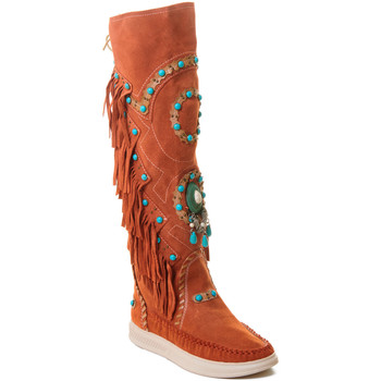 Schuhe Damen Stiefel Rebecca White T6012 Rot