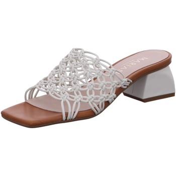 Schuhe Damen Pantoffel Marian Pantoletten 41569 weiß