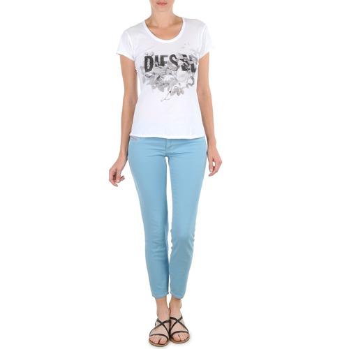 Kleidung Damen 3/4 Hosen & 7/8 Hosen Diesel LIVIER-ANKLE Blau