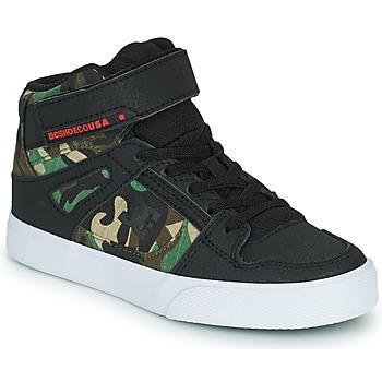 Schuhe Jungen Sneaker High DC Shoes PURE HIGH-TOP EV Schwarz / Camouflage