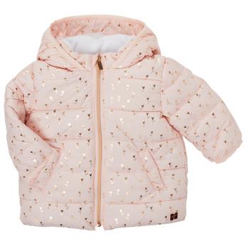 Kleidung Mädchen Daunenjacken Carrément Beau ACAJOU Rose