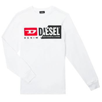 Kleidung Kinder Langarmshirts Diesel TDIEGOCUTY ML Weiss