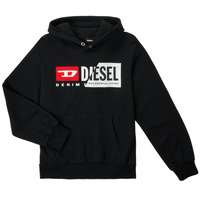 Kleidung Kinder Sweatshirts Diesel SGIRKHOODCUTYX OVER Schwarz