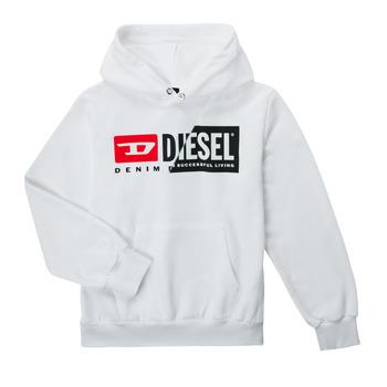 Kleidung Kinder Sweatshirts Diesel SGIRKHOODCUTYX OVER Weiss