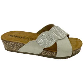 Schuhe Damen Pantoffel De Fonseca DEFONCERVIAbia bianco