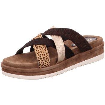 Schuhe Damen Pantoffel Lazamani Pantoletten 75717 BROWN braun