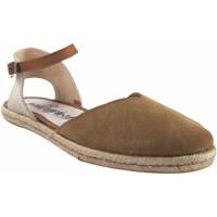 Schuhe Damen Leinen-Pantoletten mit gefloch Calzamur Damenschuh  10147 beig Weiss