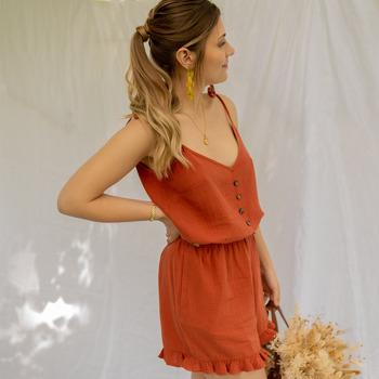Kleidung Damen Overalls / Latzhosen Céleste NEROLI Braun