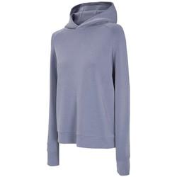 Kleidung Damen Trainingsjacken 4F Women's Hoodie Blau