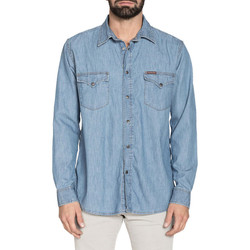 Kleidung Herren Langärmelige Hemden Carrera - 205-1005A Blau
