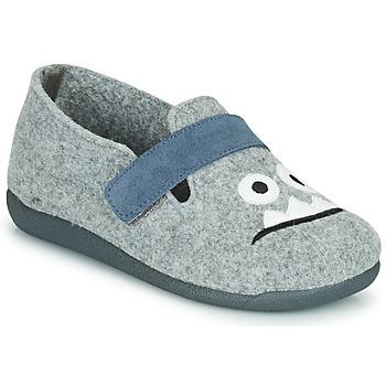 Schuhe Jungen Hausschuhe Citrouille et Compagnie POIVA Grau