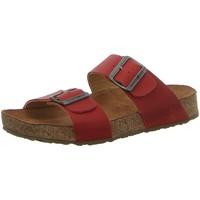 Schuhe Damen Pantoffel Haflinger Pantoletten Andrea 819016-775 madras- 819016-775 rot