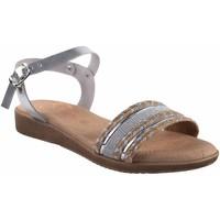 Schuhe Damen Sandalen / Sandaletten Duendy 3205 Silber Silbern