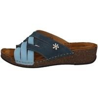 Schuhe Damen Pantoffel Florance 22134-2 Blau