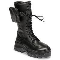 Schuhe Damen Boots Bronx JAXSTAR HIGH Schwarz