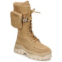 Schuhe Damen Boots Bronx JAXSTAR HIGH Beige