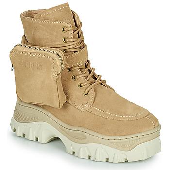 Schuhe Damen Boots Bronx JAXSTAR MID Beige