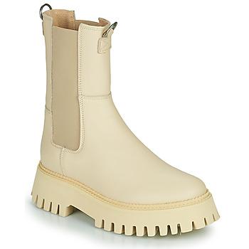 Schuhe Damen Boots Bronx GROOV Y Beige