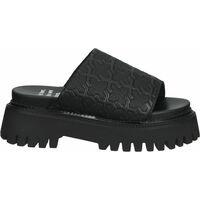Schuhe Damen Sandalen / Sandaletten Bronx Pantoletten Schwarz